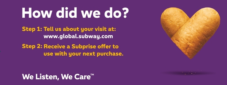 Www.Gloabl.Subway.Com Survey at Subwaylistens