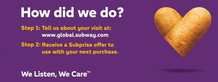 Www.Gloabl.Subway.Com Survey at Subwaylistens
