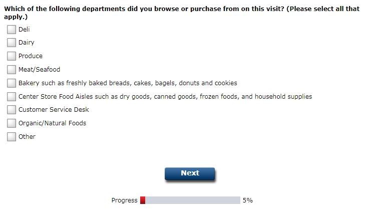 Krogerexperience.com survey step 2