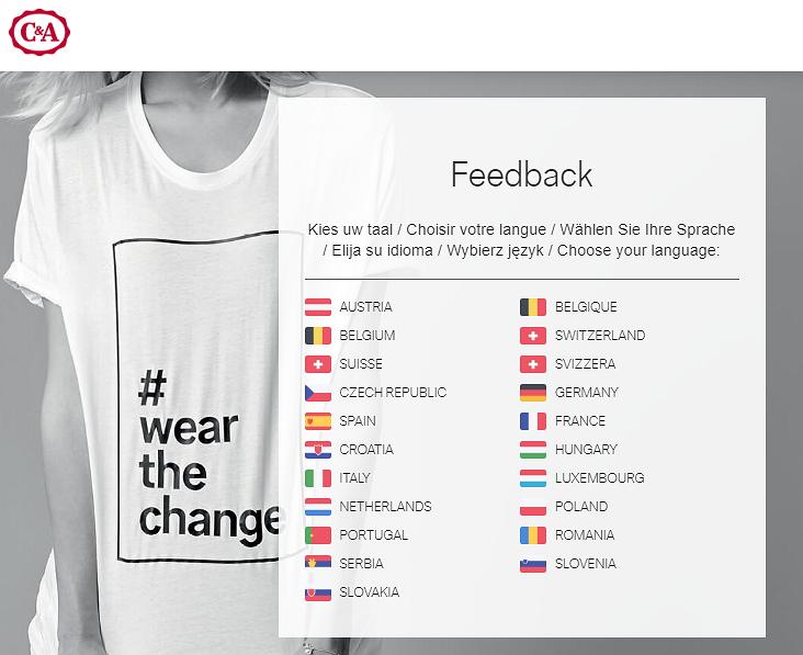 www.feedback.canda.com homepage