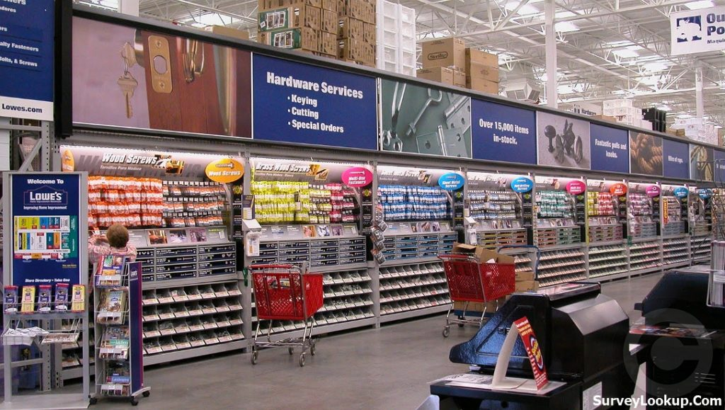 inside the lowes store