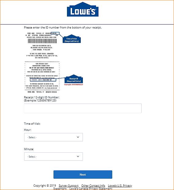 www.lowes.com/survey homepage