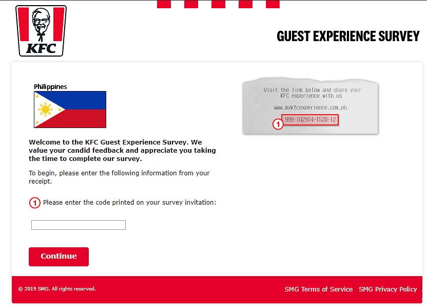 www.mykfcexperience.com.ph homepage
