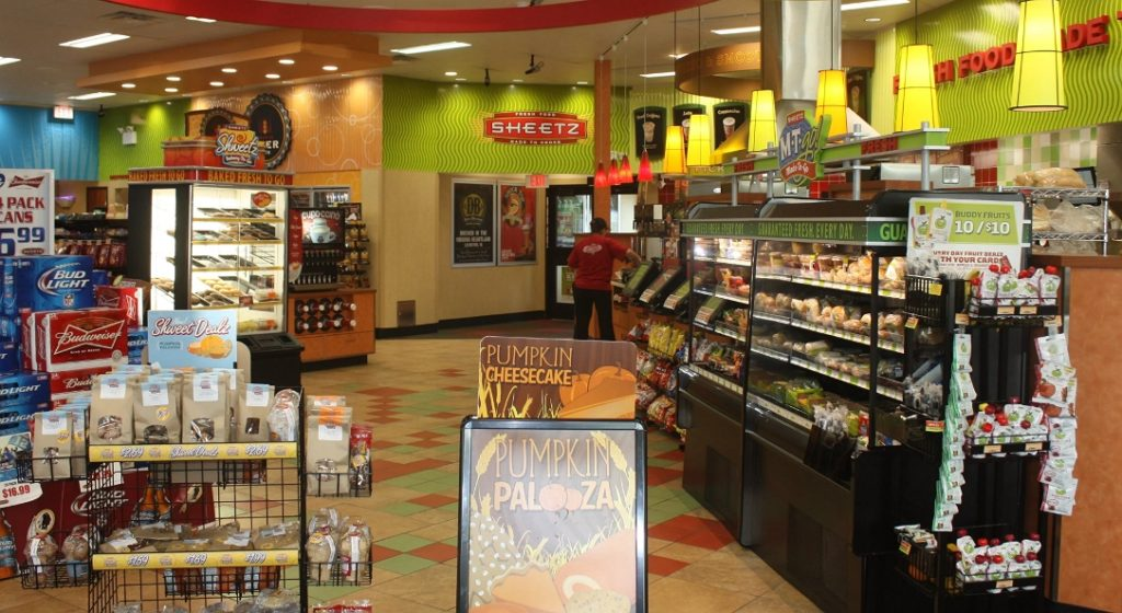 inside sheetz restaurant