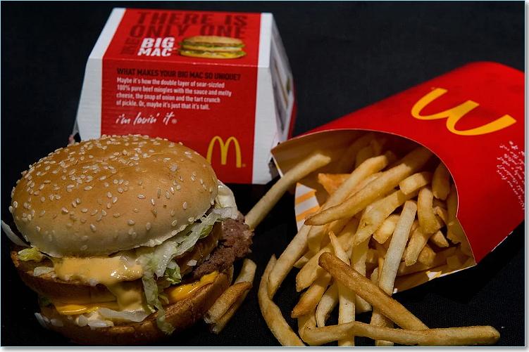 McDonald's big mac and fries