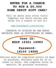 Home depot receipt