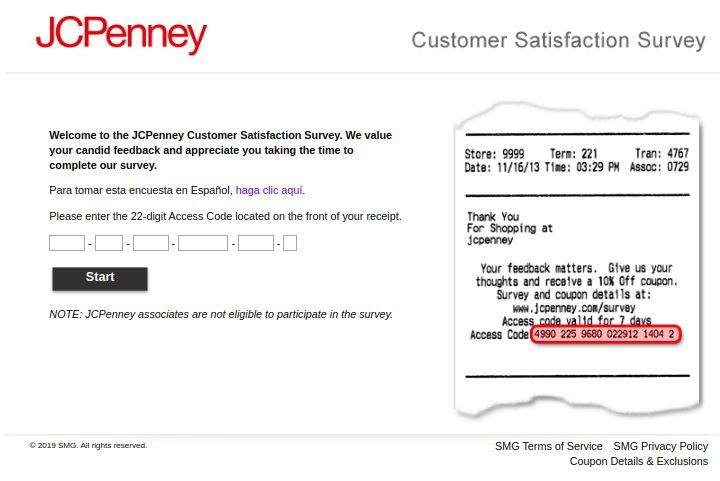 Www.JCPenney.Com/Survey Homepage