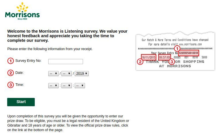 Www.Morrisonsislistening.Co.Uk Homepage